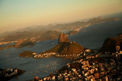 Sunset in Rio de Janeiro from Corcovado Stock Images