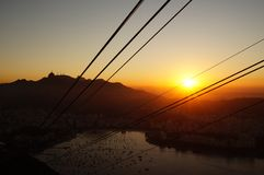 Sunset in Rio Royalty Free Stock Images