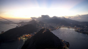 The sunset of Rio de Janerio Royalty Free Stock Photos