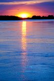 Sunset on river Stock Photography