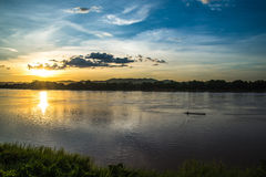 Sunset river beautiful evening Royalty Free Stock Photography