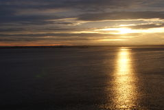 Sunset at the River Humber Stock Image