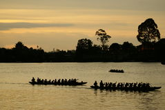 Sunset on the river kuching, Borneo Stock Photography