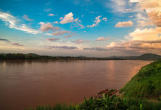 Sunset river Royalty Free Stock Photography