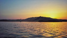The Nile river on the Aswan bank Royalty Free Stock Image