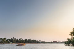 Sunset at river. In Thailand stock images