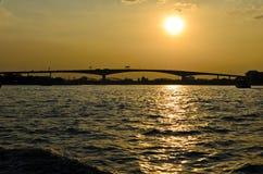 Sunset river view bangkok thailand Royalty Free Stock Photo