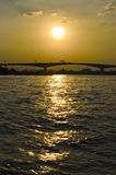 Sunset river view bangkok thailand Stock Photography