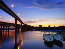 Sunset in riverside Stock Photography