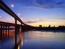 Sunset in riverside Royalty Free Stock Photography