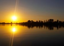 Sunset at riverside Royalty Free Stock Images