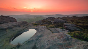 Sunset at The Roaches royalty free stock images