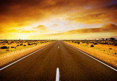 Sunset Road Stock Images