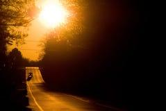 Sunset Road stock photos