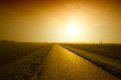 Sunset road Royalty Free Stock Image