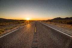 Sunset Road Stock Photography