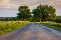 Sunset road Stock Photo