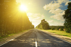 Sunset road in russian hills stock image