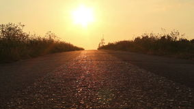 Sunset road stock footage