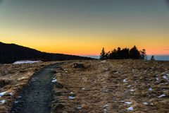 Sunset at Roan Mountain Royalty Free Stock Images