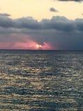 Sunset. In Roatan Stock Photo