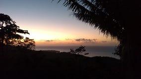 Sunset in Roatan royalty free stock photo