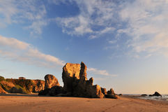 Sunset with rock formations, bandon, Oregon Royalty Free Stock Photo
