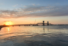 Sunset from the Rockaways, Queens, NY Royalty Free Stock Photo
