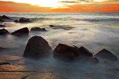 Sunset at the rocks Stock Photos