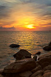 Sunset at the rocks Stock Photography