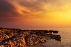 Sunset rocks Royalty Free Stock Image