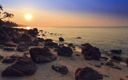 Sunset rocks Stock Images
