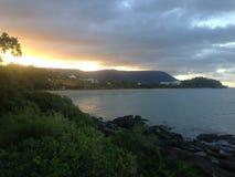 Sunset on the Rocks. Stock Photo