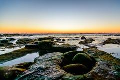 Sunset rocks Stock Photo