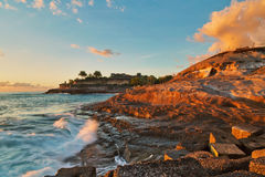 Sunset at rocks Royalty Free Stock Images
