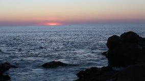 Sunset on the rocky Atlantic coast. Nature. stock video footage