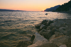 Sunset Rocky Coastline Royalty Free Stock Image