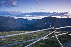 Sunset in Rocky Mountains Stock Photography