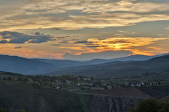 Sunset in the Rocky Mountains Royalty Free Stock Photos