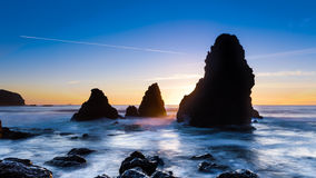 Sunset at Rodeo Beach Royalty Free Stock Images