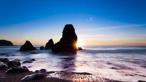 Sunset at Rodeo Beach stock photos