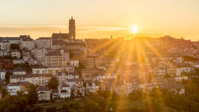 Sunset in Rodez, France Royalty Free Stock Photography
