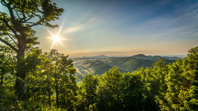 Sunset from Rogowiec. From Suche Mountains Royalty Free Stock Photo