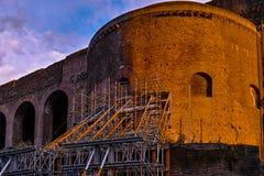 Sunset of Roman ruins Royalty Free Stock Photo