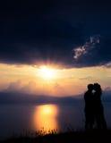 Sunset romance Stock Photos