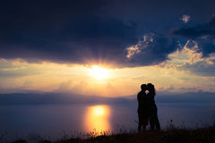 Sunset romance Stock Photo