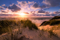 Sunset with romantic mood in Portugal Royalty Free Stock Photo