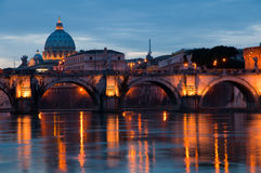 Sunset in Rome Stock Image