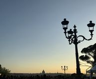 Sunset in Rome, ciao Roma stock photo