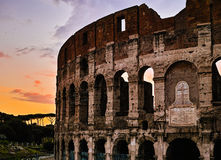 Sunset of Rome Colosseum Stock Photography
